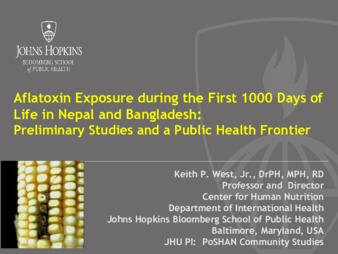 PDF | Aflatoxin Exposure during the First 1000 Days of Life