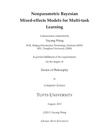 PDF | Nonparametric Bayesian Mixed-effects Models for Multi
