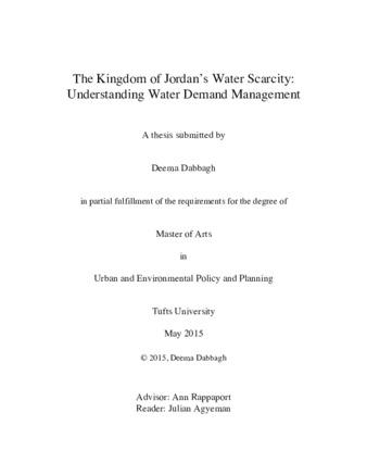 PDF | The Kingdom of Jordan's Water Scarcity: Understanding