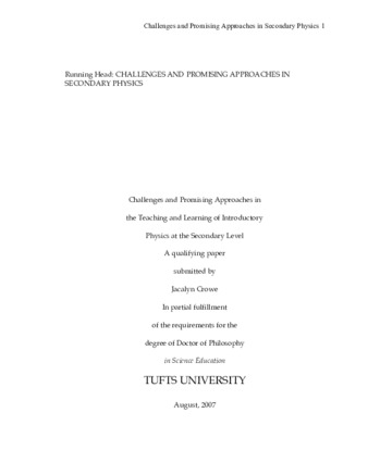 PDF | Challenges and Promising Approaches in the Teaching