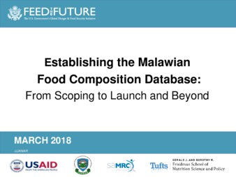 PDF | Establishing the Malawian Food Composition database