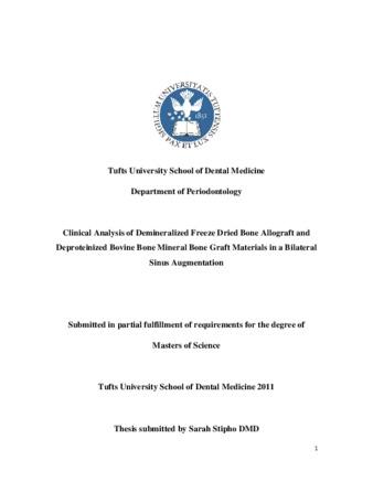 PDF | Clinical Analysis of Demineralized Freeze Dried Bone