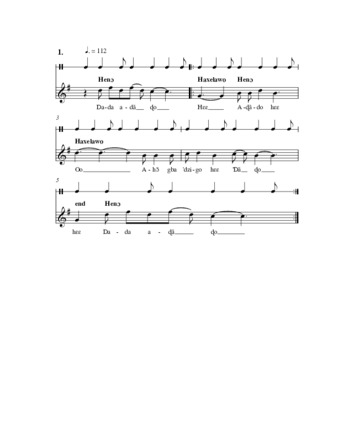 PDF | Dada Ada Do song lead sheet | ID: gq67k367f | Tufts Digital