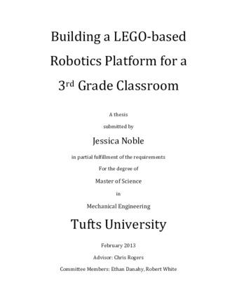 PDF | Building a LEGO-based Robotics Platform for a 3rd Grade