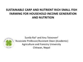 PDF | Sustainable CARP and Nutrient Rich Small Fish Farming