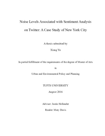 PDF | Noise Levels Associated with Sentiment Analysis on