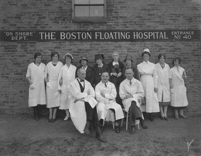 Doctors and Nurses at the Onshore Department of the Boston Floating Hospital
